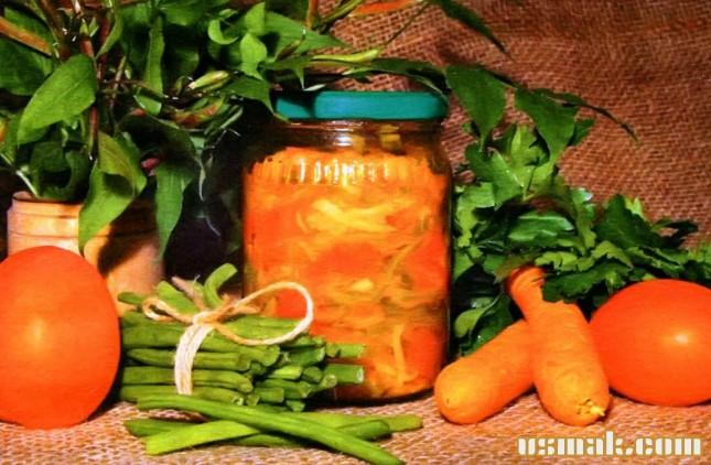Рецепт Консервированная фасоль с овощами