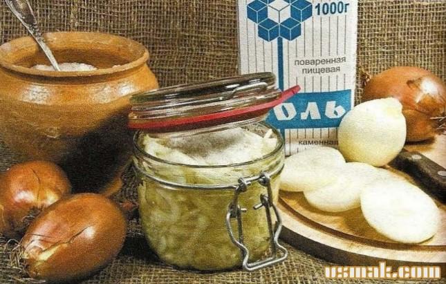 Рецепт Соленый лук