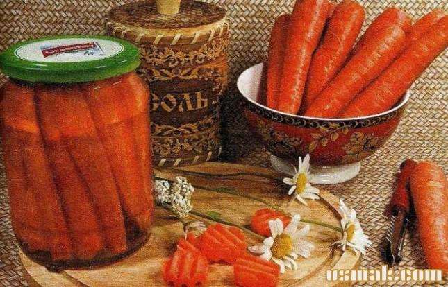 Рецепт Морковь консервированная