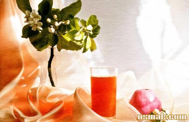 Рецепт Сок яблочный с мякотью