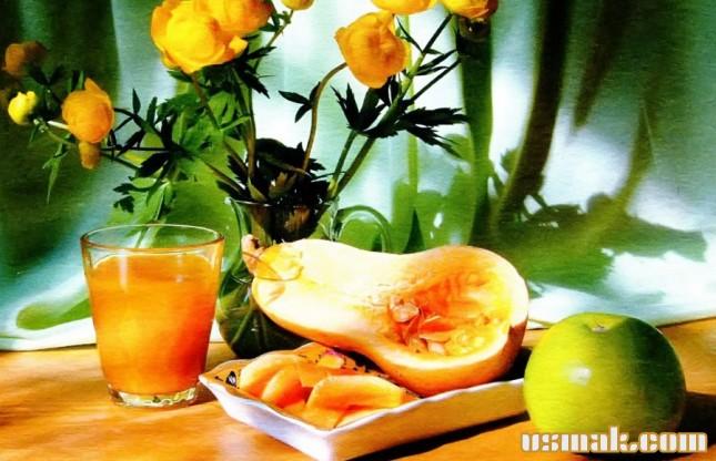 Рецепт Сок яблочно тыквенный
