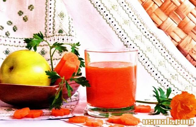 Рецепт Морковно яблочный сок