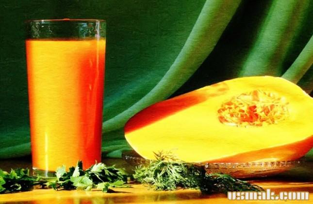 Рецепт Тыквенный сок на зиму