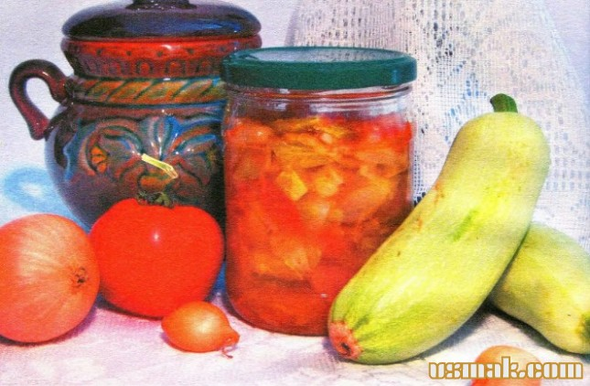 Рецепт Кабачковый салат на зиму