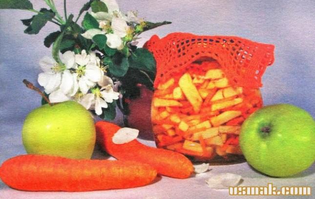 Рецепт Салат из моркови и яблок на зиму