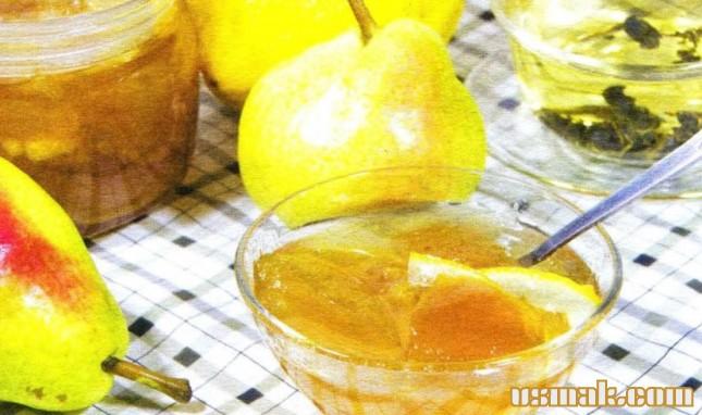 Рецепт Грушевое варенье дольками с лимоном