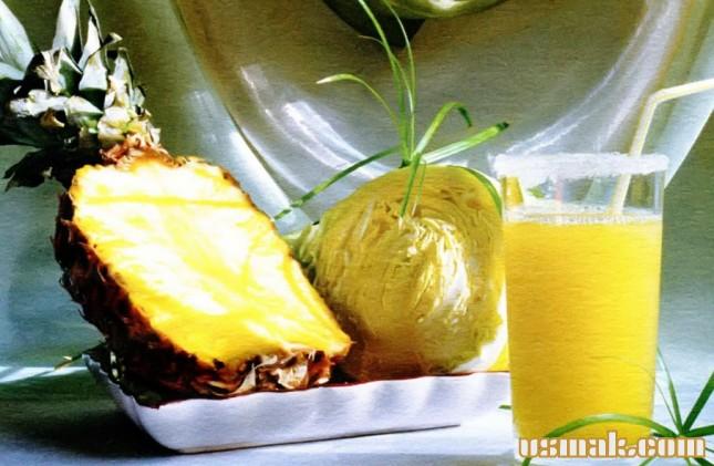 Рецепт Капустный сок с ананасом