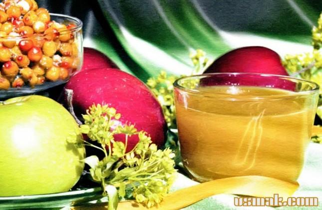 Рецепт Облепиховый сок с яблоками