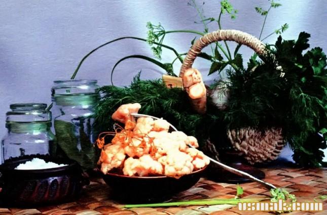 Рецепт Квашеная цветная капуста