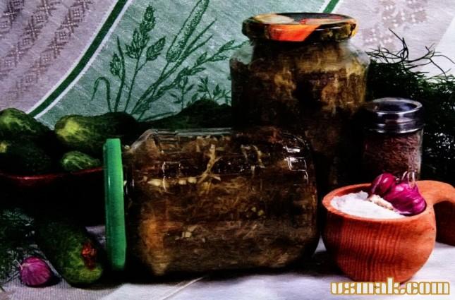Рецепт Заготовка огурцы в огурцах