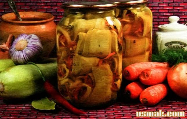 Рецепт Фаршированные кабачки квашеные