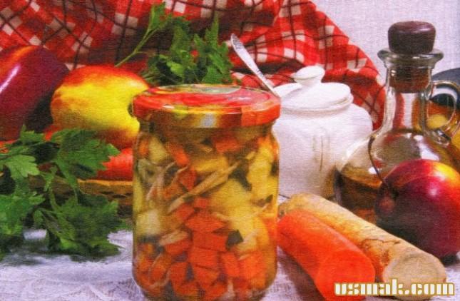 Рецепт Маринованный салат с овощами