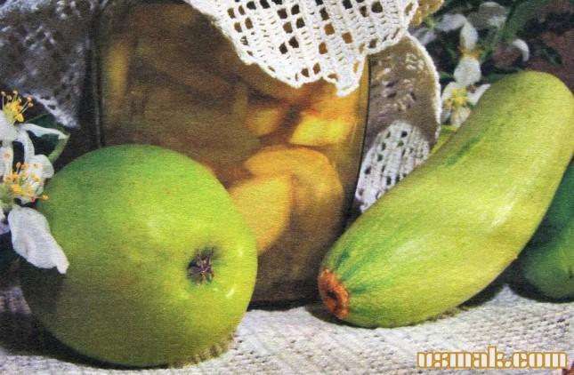 Рецепт Заготовка салата из кабачков, перца и яблок