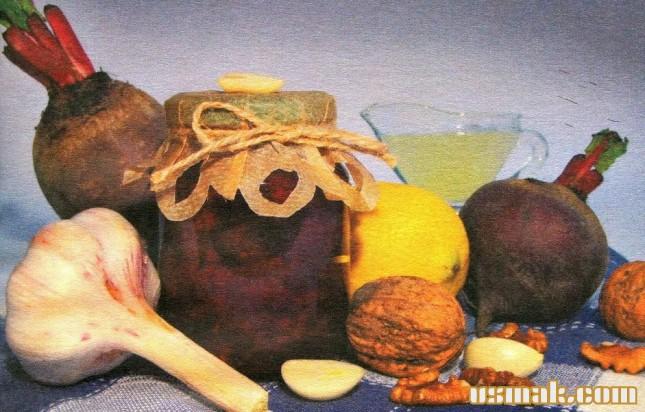 Рецепт Свекла с чесноком и орехами на зиму