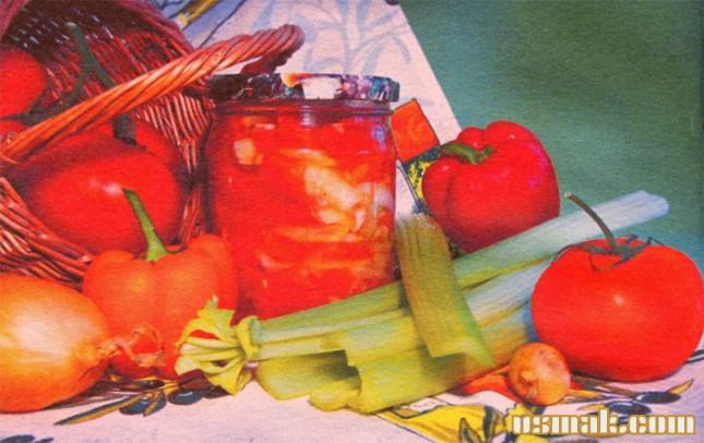 Рецепт Салат из помидоров по болгарски
