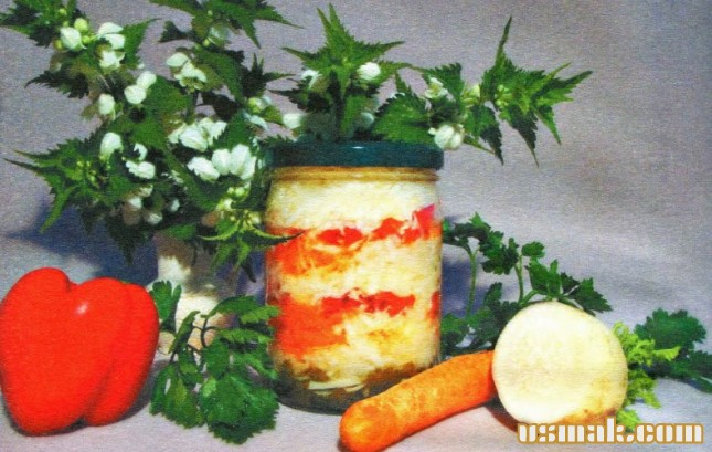 Рецепт Салат из редьки на зиму