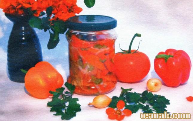 Рецепт Салат из болгарского перца на зиму