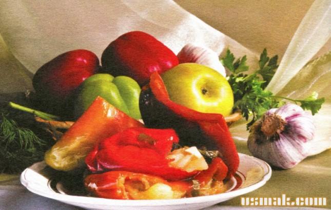 Рецепт Салат с перцем и яблоком