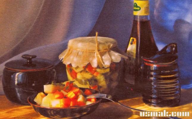 Рецепт Салат с сельдереем на зиму