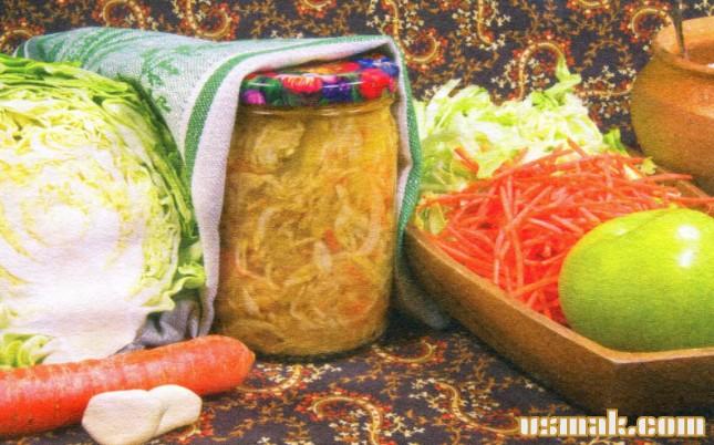 Рецепт Салат из капусты на зиму