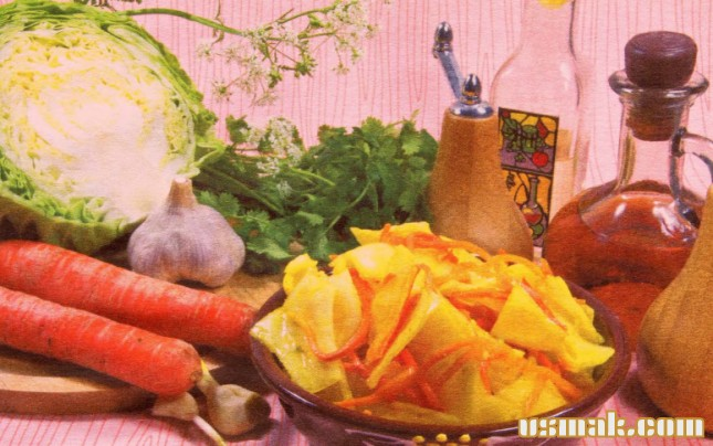 Рецепт Салат из капусты по корейски
