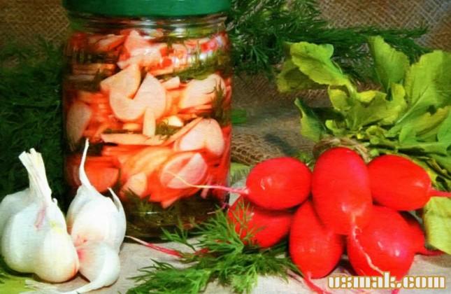Рецепт Салат из редиса на зиму