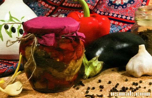 Рецепт Закуска из баклажан и перца