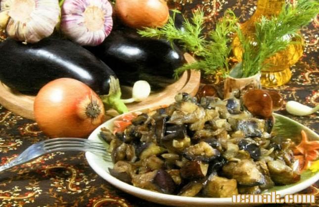 Рецепт Баклажаны с луком