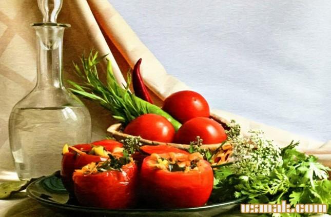 Рецепт Квашеные фаршированные помидоры