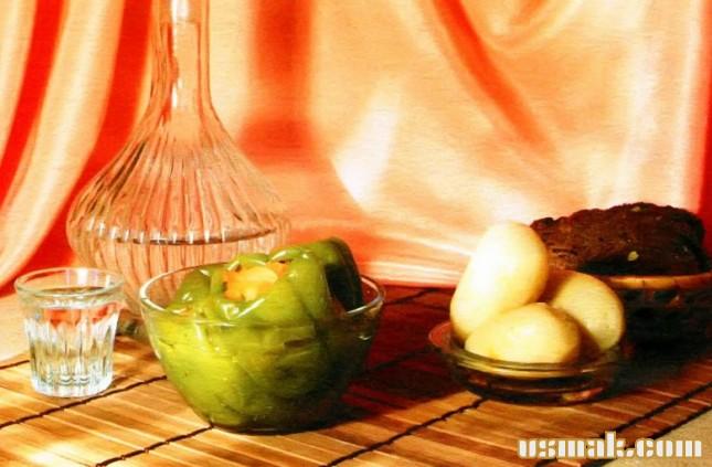 Рецепт Перец фаршированный овощами на зиму