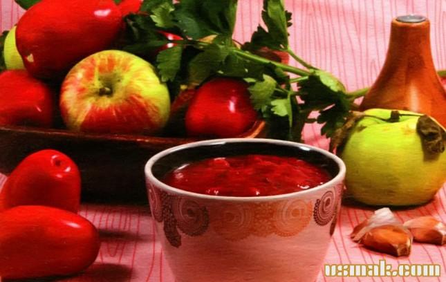 Рецепт Паста из помидоров и яблок