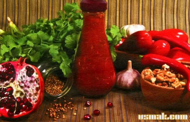 Рецепт Домашний сацебели с орехами