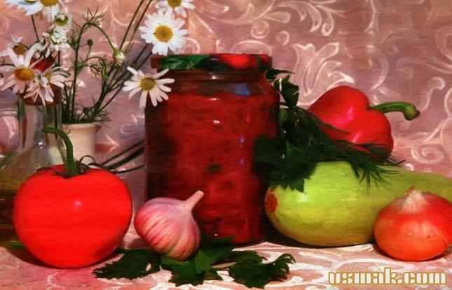 Рецепт Лечо из кабачков на зиму