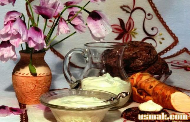 Рецепт Соус из хрена и сметаны