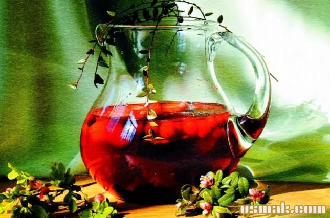 Рецепт Компот из яблок, брусники, черники и клюквы
