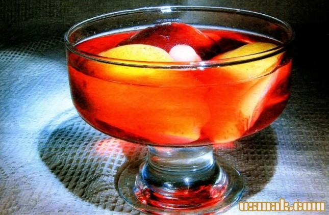 Рецепт Компот из груш, слив и винограда
