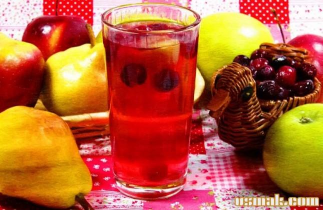 Рецепт Компот из брусники, яблок и груш