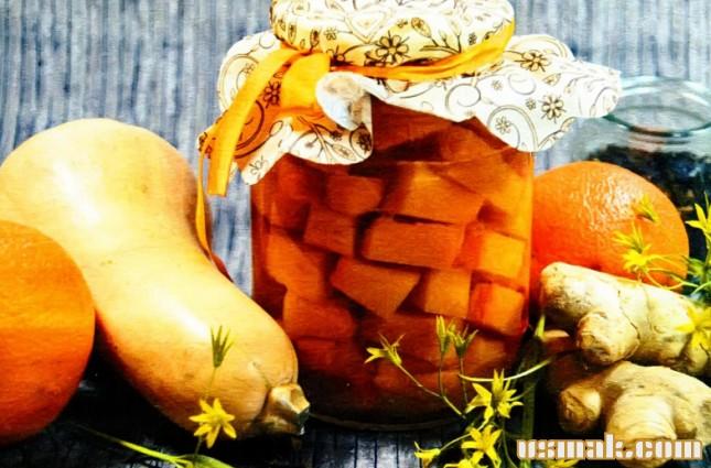 Рецепт Компот из тыквы и апельсина