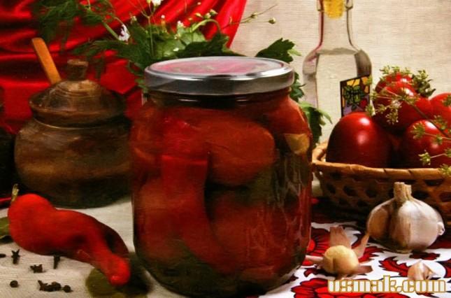 Рецепт Острые помидоры на зиму