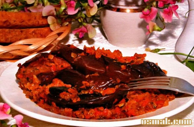 Рецепт Баклажаны с острым перцем на зиму