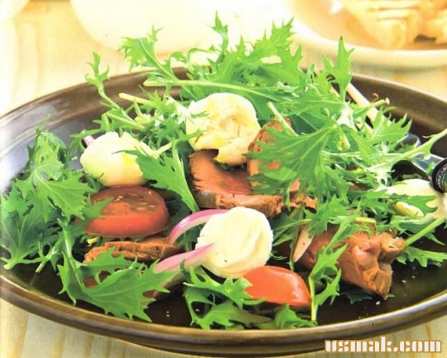 Рецепт Салат с говядиной и рукколой