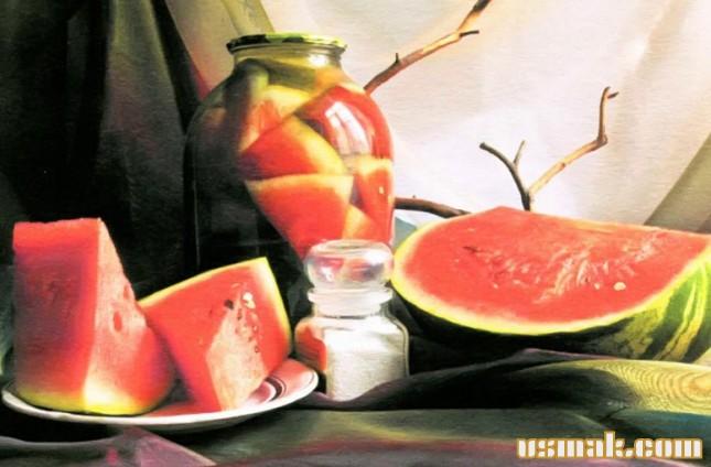 Рецепт Арбуз маринованный на зиму