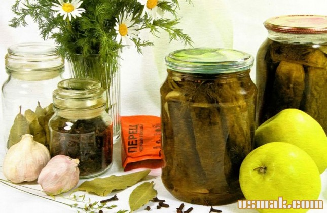 Рецепт Огурцы маринованные в яблочном соке