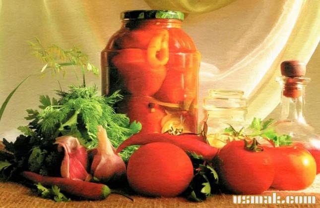 Рецепт Самые вкусные маринованные помидоры на зиму