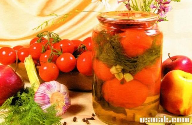 Рецепт Помидоры маринованные яблочным соком