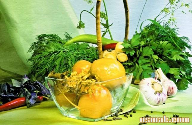 Рецепт Маринованные зеленые помидоры на зиму
