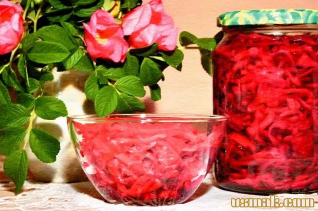 Рецепт Маринованная краснокочанная капуста