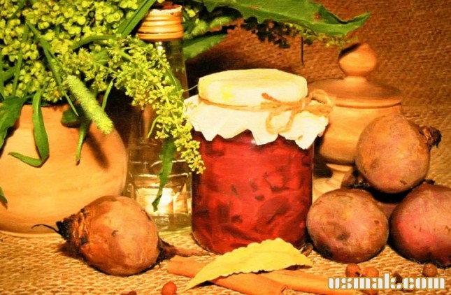 Рецепт Свекла маринованная без стерилизации