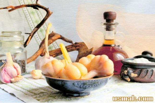Рецепт Чеснок маринованный на зиму