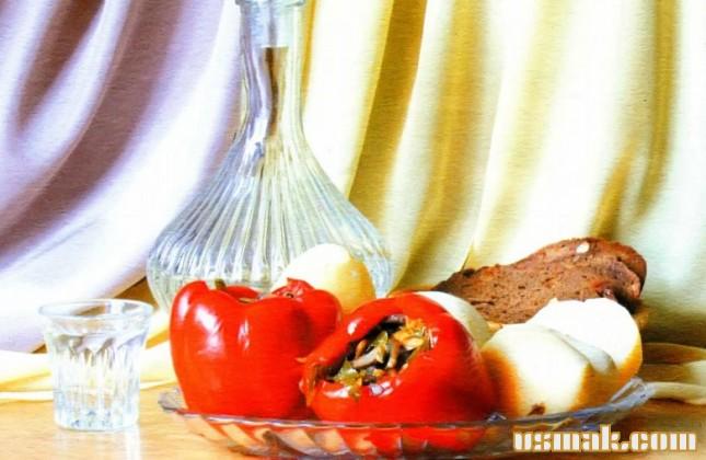 Рецепт Перец фаршированный грибами